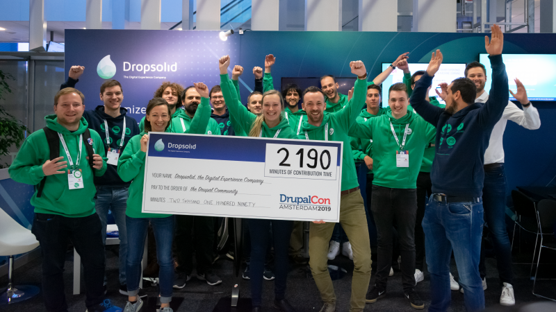 Dropsolid donated 37 hours of contrib time to Drupal